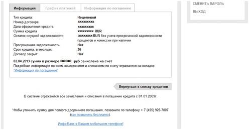 Русфинанс банк справка о закрытии кредита
